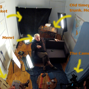 The Layout of the Room for My First Talk withHenri